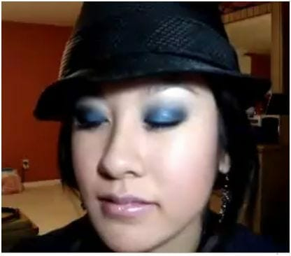 smokey royal blue eye makeup