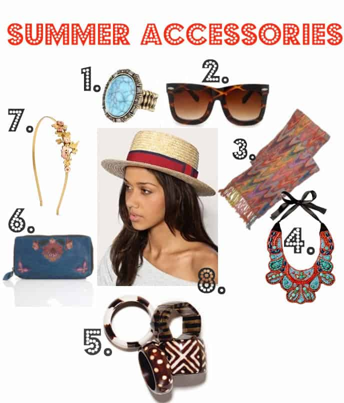 summer accessories, summer accessory