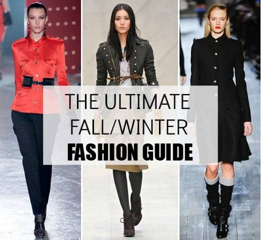 fall winter fashion 2012