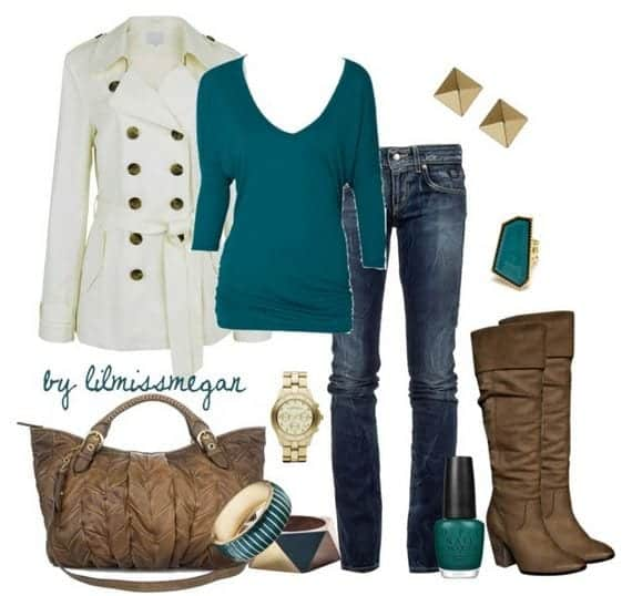 3 Stylish Ways To Wear Teal For Fall