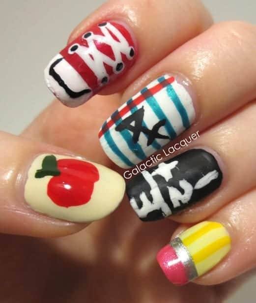 Really cute nails for school back to school nail designs