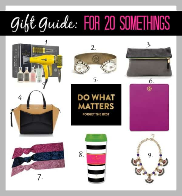 gift guide for 20 somethings