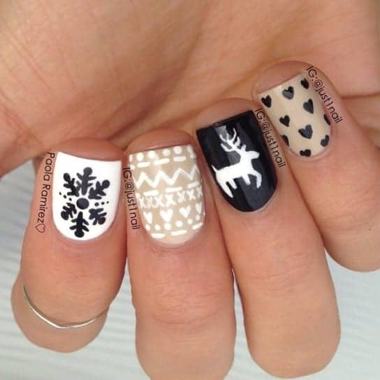 Winter Christmas Nail Designs: Top 7 Best Christmas Nail Art Designs