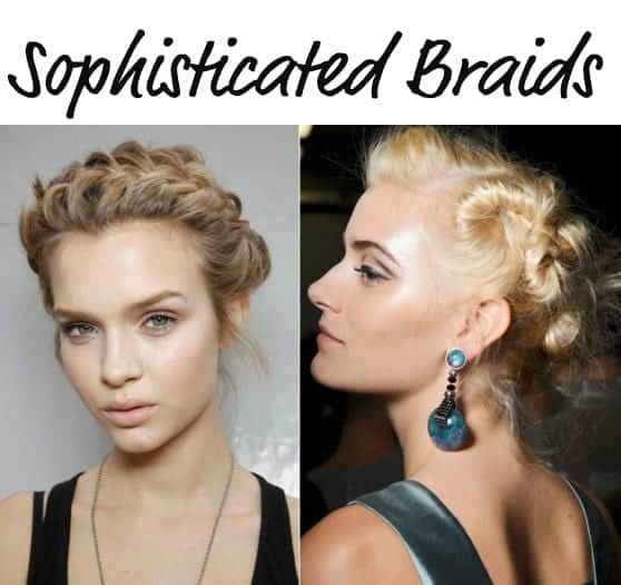 sophisticated plaited braids