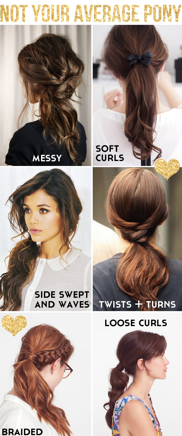 cool ways to style medium length hair 6 cool ways to spruce up a boring ponytail 7726