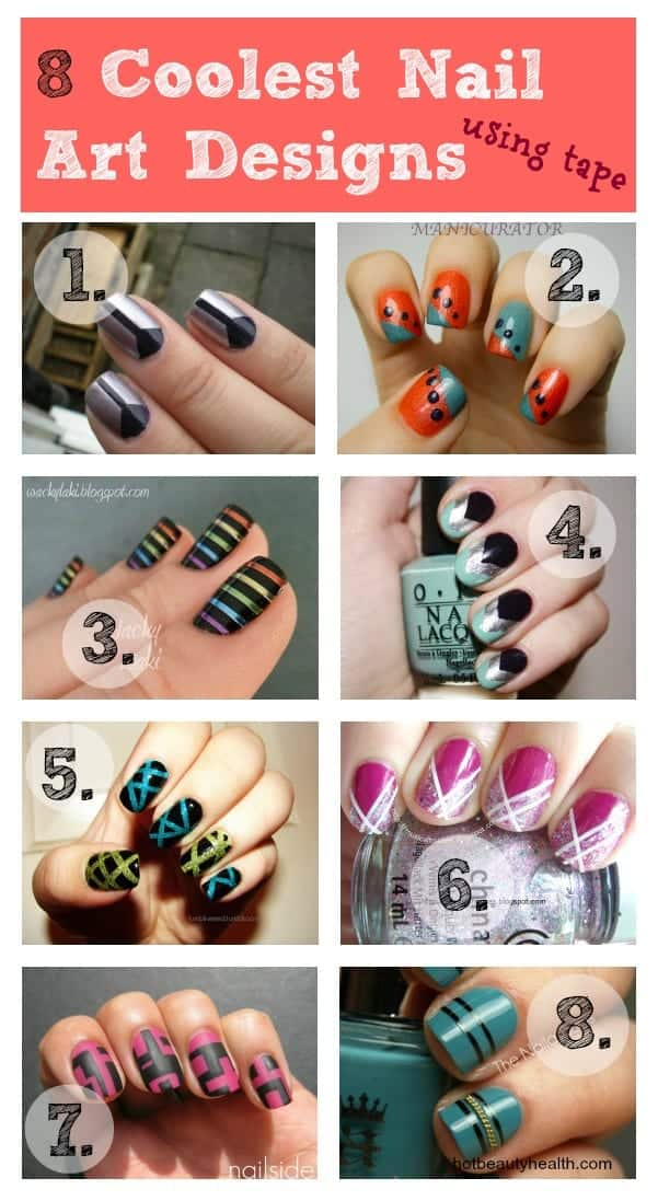nail art using tape