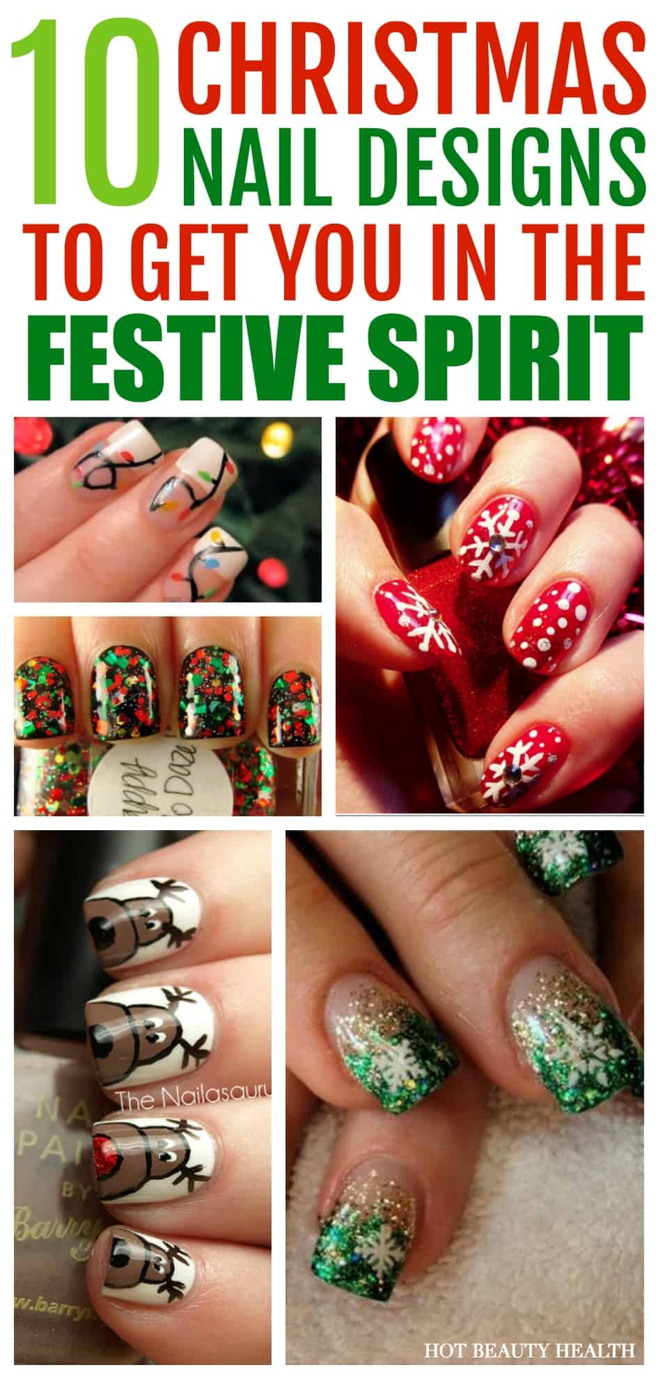 Here's a curated list of 10 holiday nail art design tutorials! They're festive and super fun to do this Christmas.
