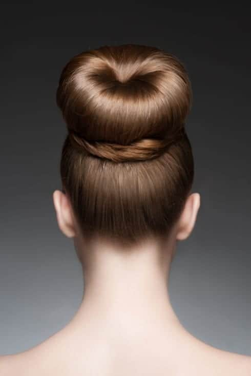 top knot bun hairstyle