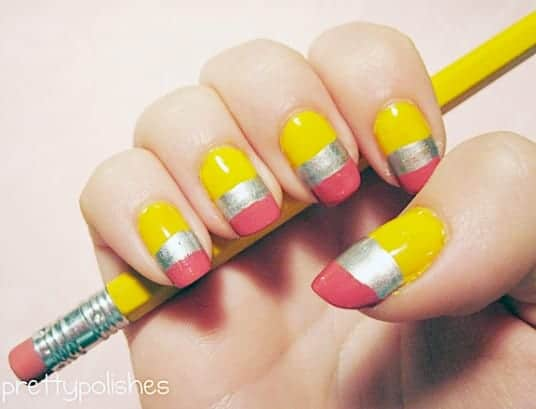 10 cute back to school nail designs Cool nail design ideas at home