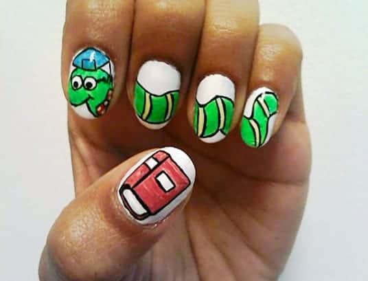 back to school nail designs,   cute back to school nail designs