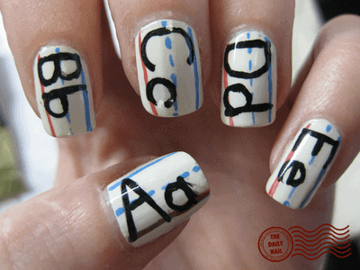 back to school nail designs, cute back to school nail designs - 10 Cute Back To School Nail Designs