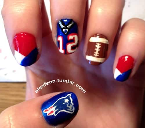15 Fun Football Nail Art Designs