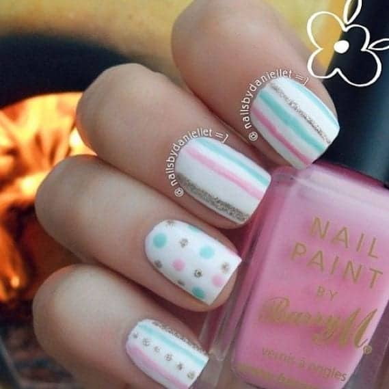 20 simple nail designs for beginners simple nail designs prinsesfo Images