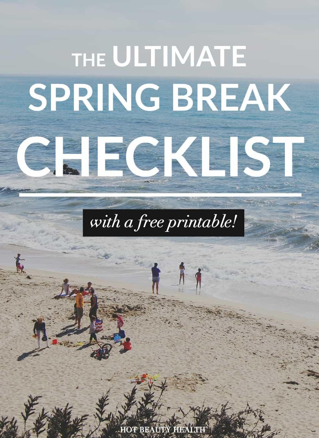spring break packing checklist