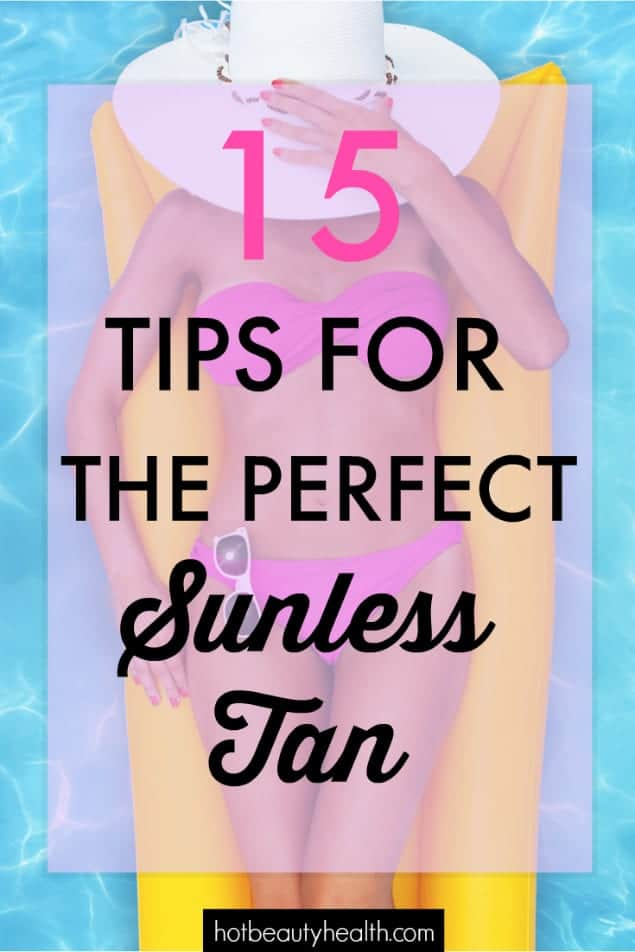 sunless tanning tips