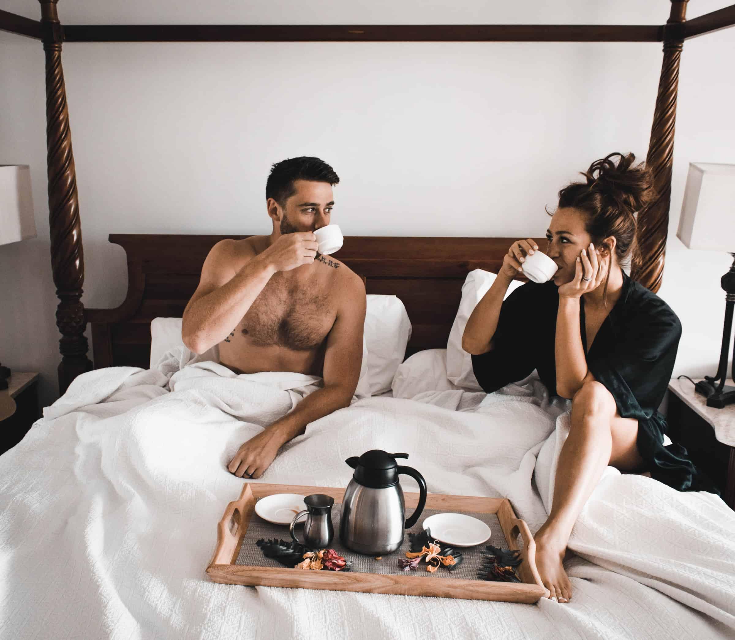 staycation breakfast in bed