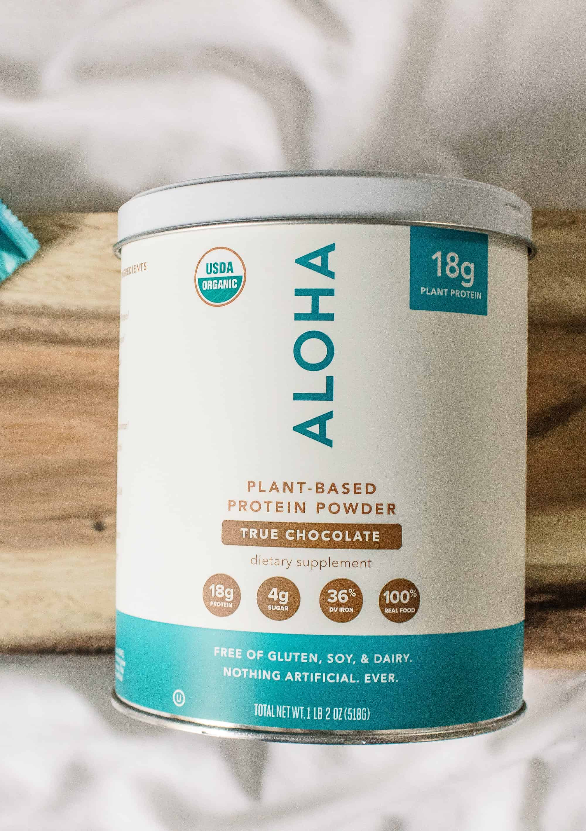 aloha true chocolate protein powder