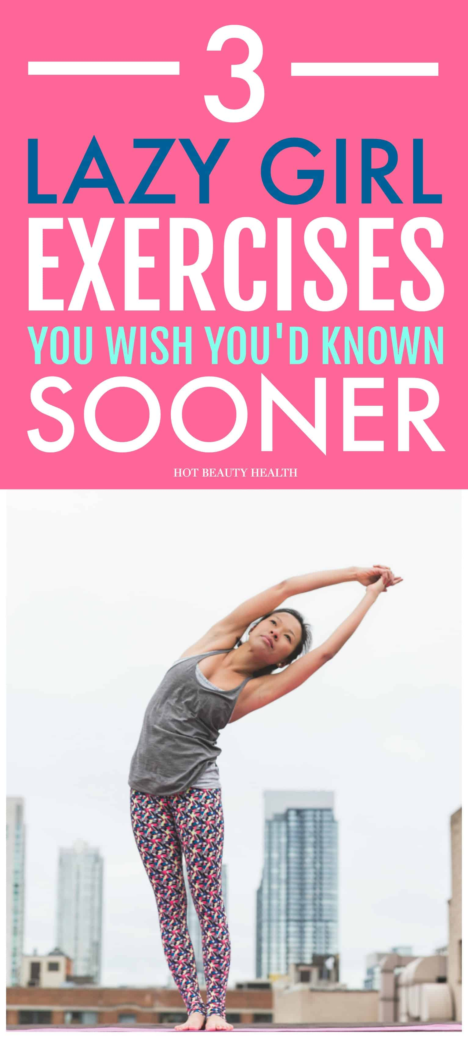 These 3 lazy girl exercises are my favorite way to workout when I'm too tired to go to the gym! You'll definitely start to lose weight with these fat-burning work outs!