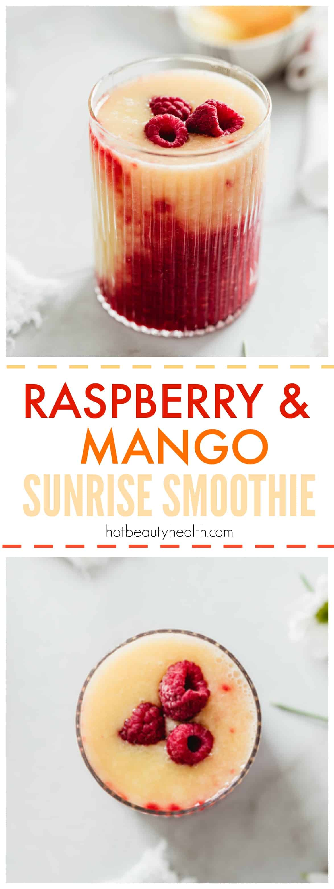 Raspberry Mango Sunrise Smoothie