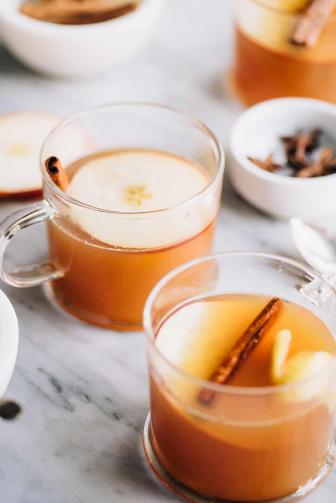 Looking for a holiday cocktail recipe to indulge in or serve guests at holiday parties? This warm and cozy Apple Cider Hot Toddy is perfect for sipping on at the dinner table or by the fire this Thanksgiving and Christmas. (Click here for the recipe!)