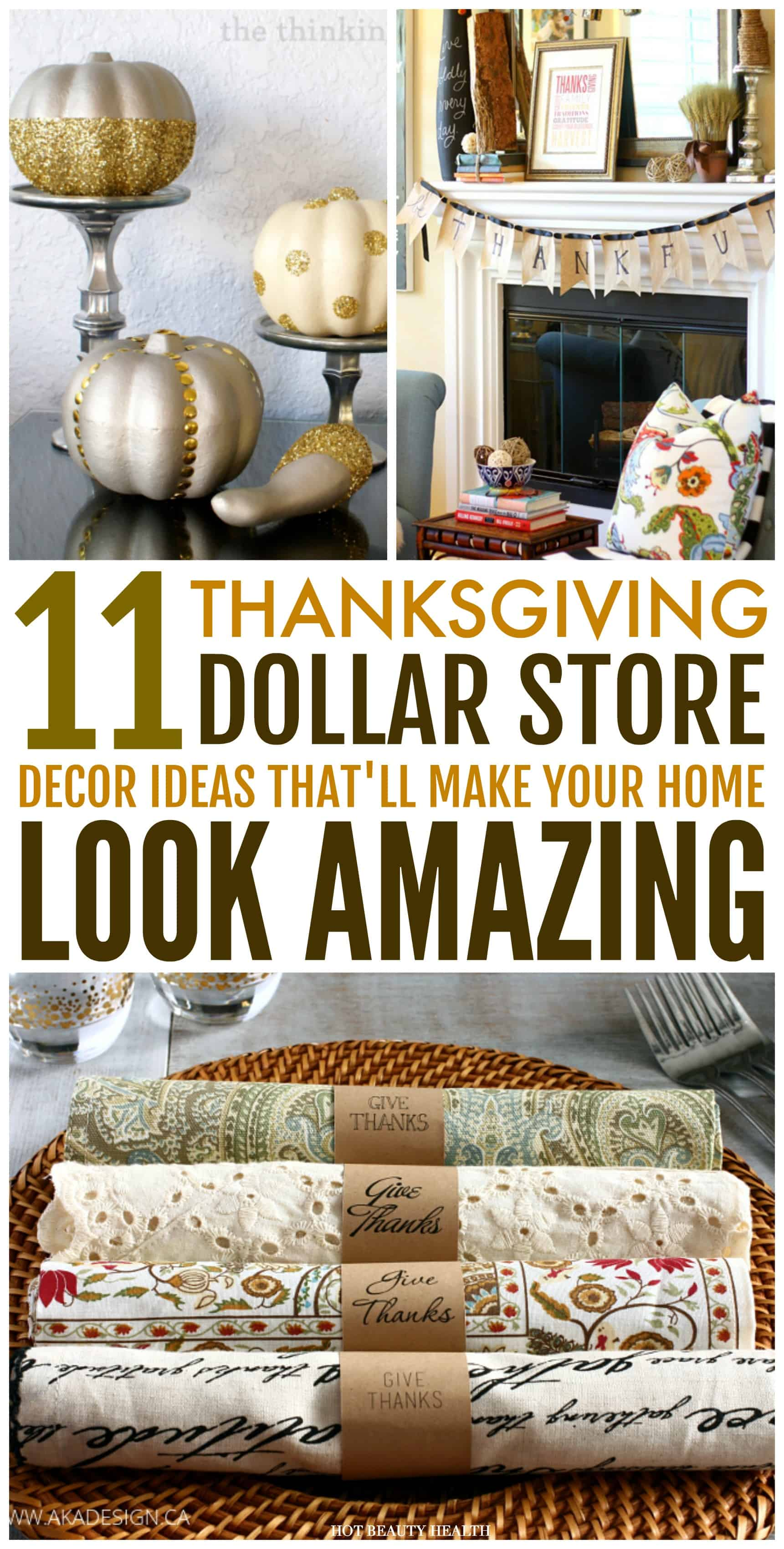 These 11 Dollar Store Thanksgiving Decor Hacks Are Amazing! These Home  Decor Ideas Are Super