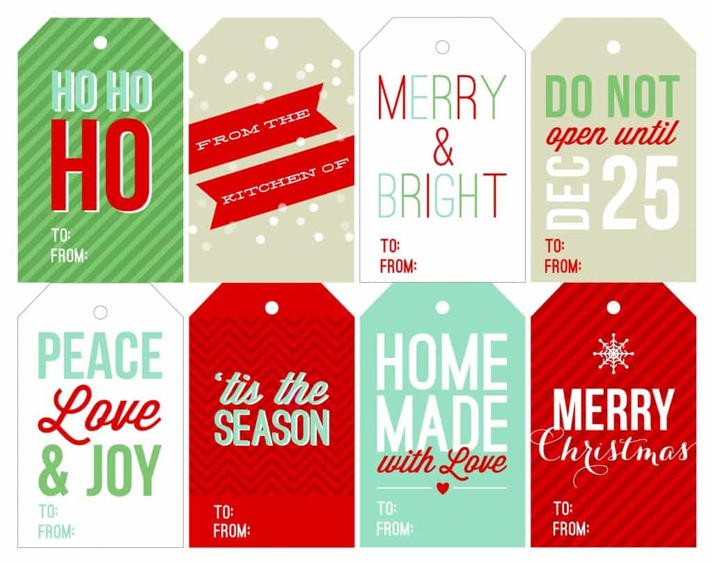 image about Christmas Tags Printable named 12 Free of charge Printable Xmas Present Tags That Are Further than