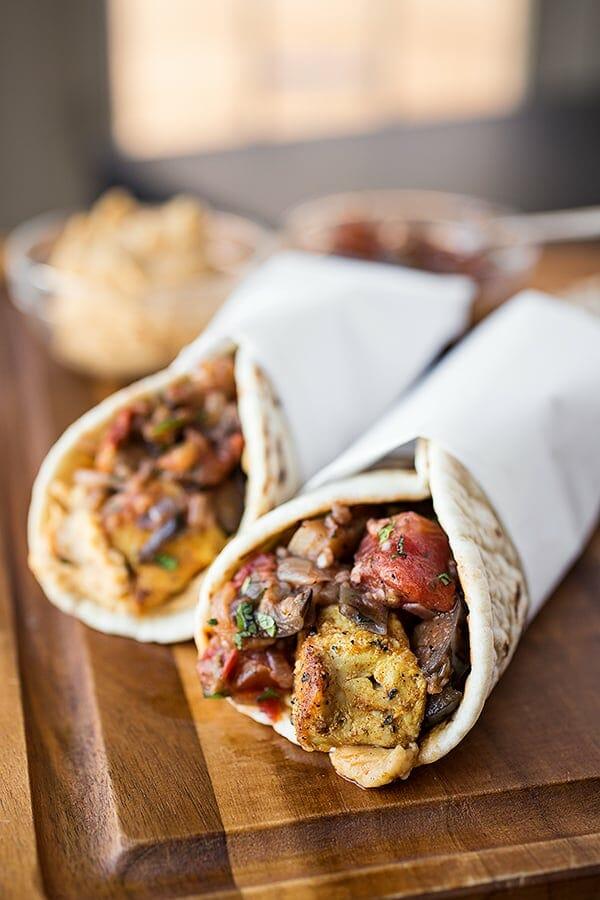 spiced moroccan chicken wrap the cozy apron