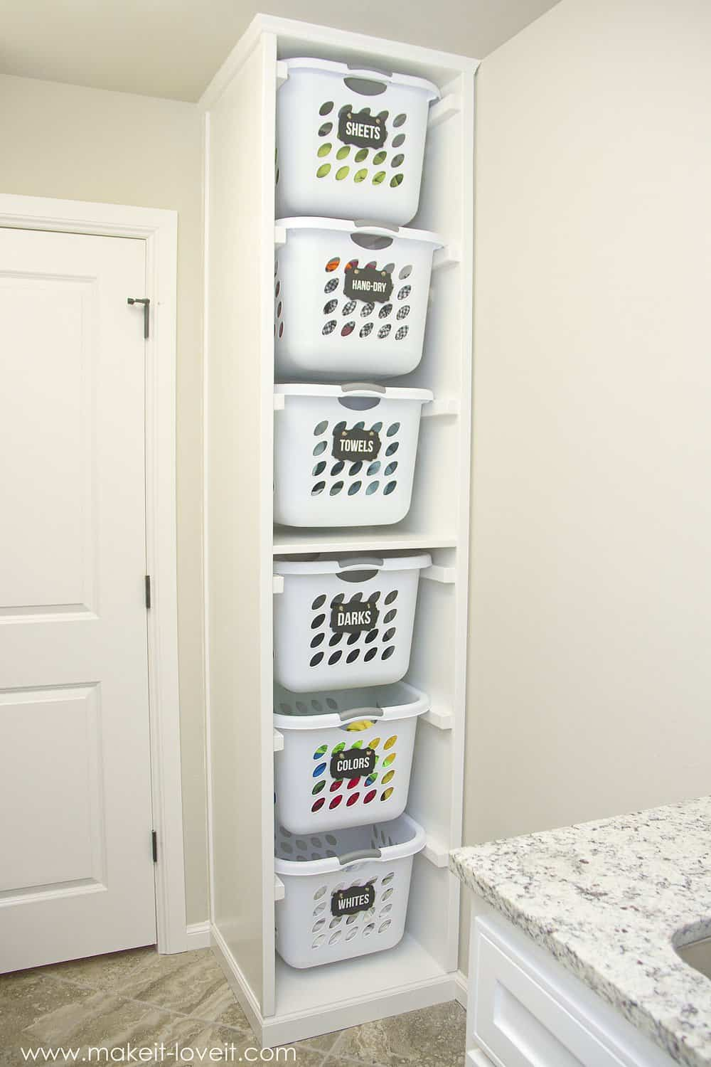 diy laundry basket organizer make it love it