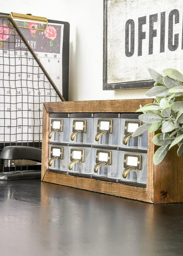 Industrial Style Dollar Tree Storage little house of four