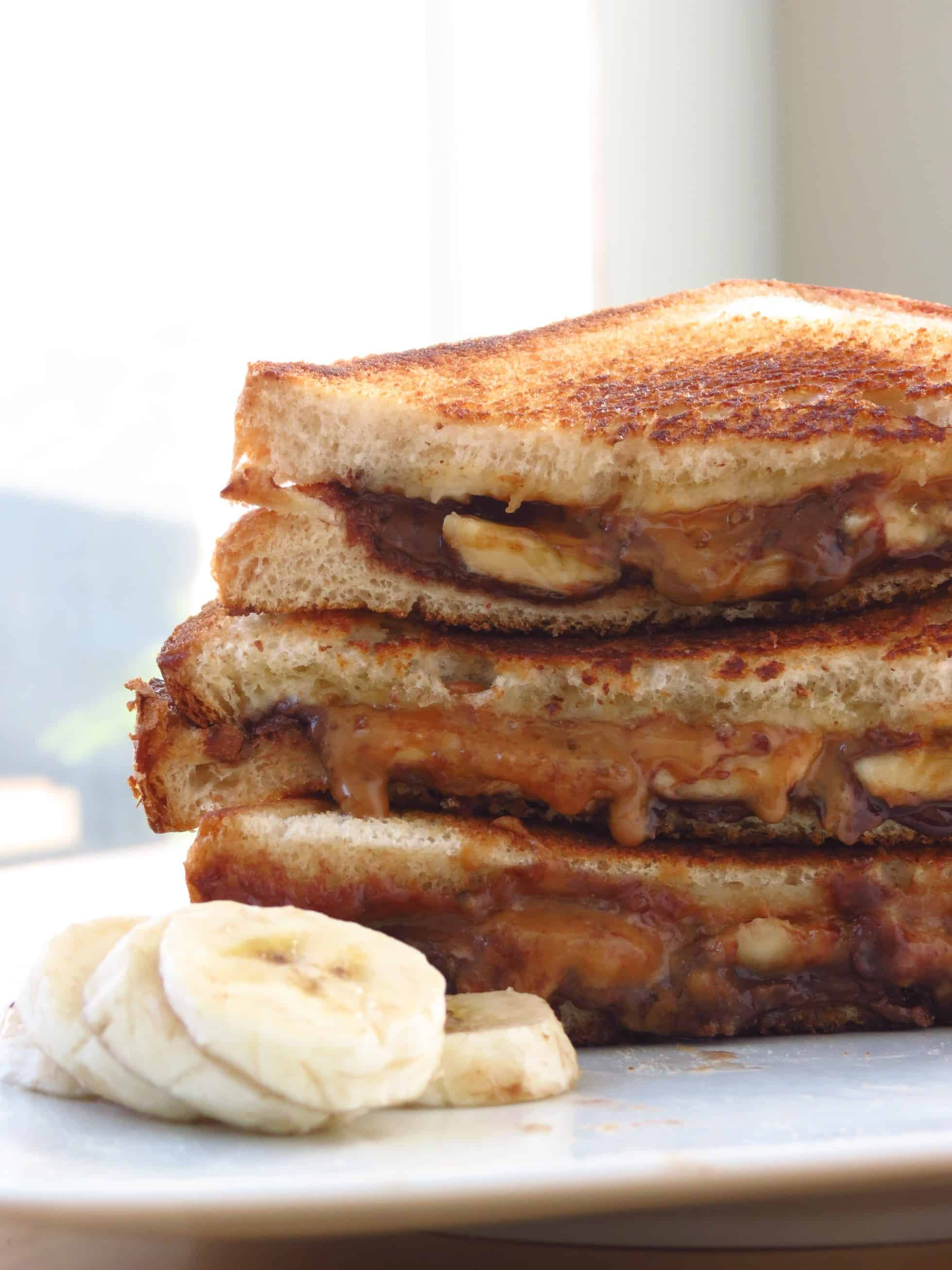 nutella cookie butter banana grilled cheese joyous apron
