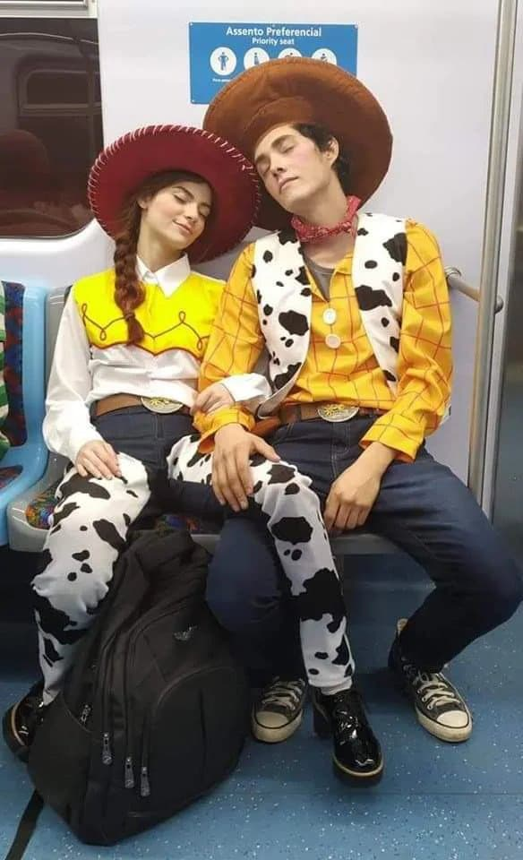 toy story woody and jessie couple costume
