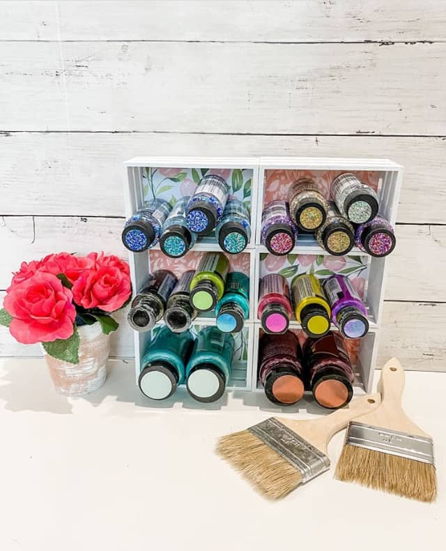dollar tree paint storage creativeonthecheap