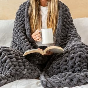 college girl gifts knit blanket